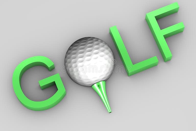 Testo di golf royalty illustrazione gratis