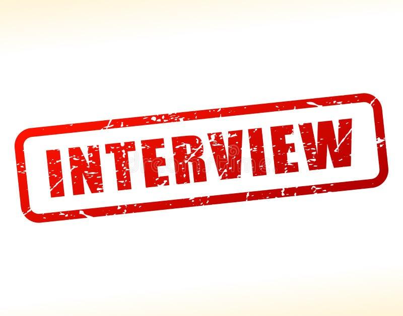 Testo di intervista attenuato royalty illustrazione gratis