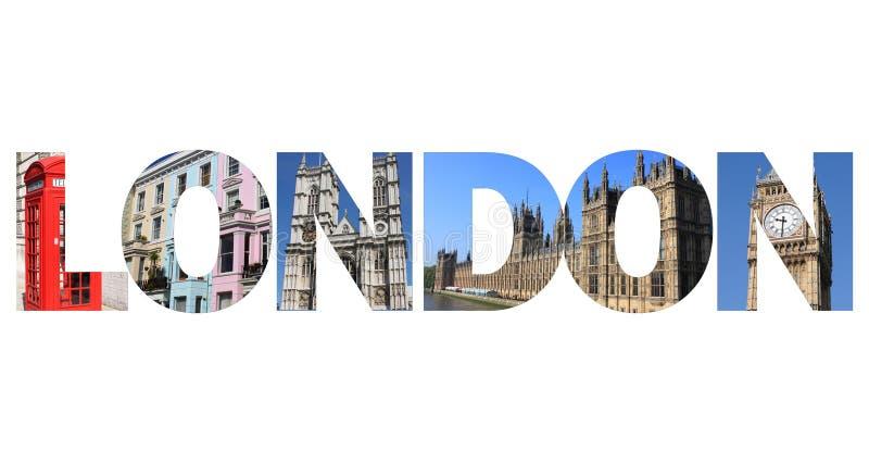 Testo di Londra fotografia stock