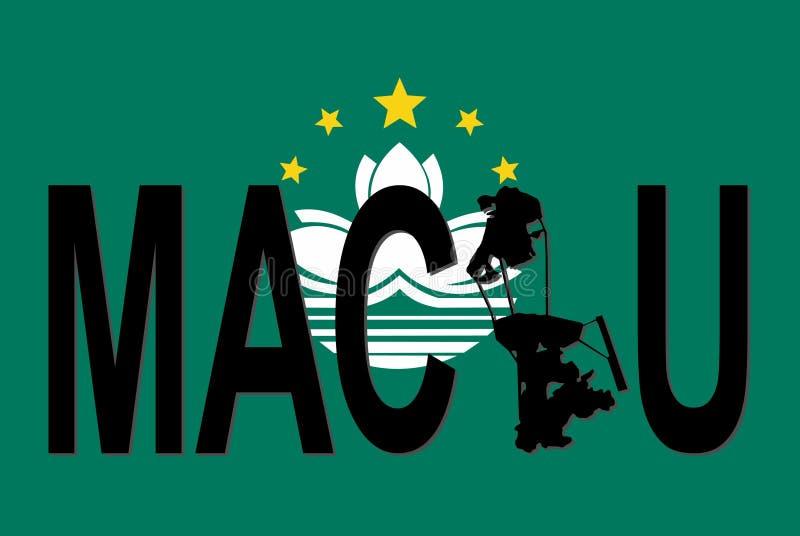 Testo di Macau con il programma royalty illustrazione gratis