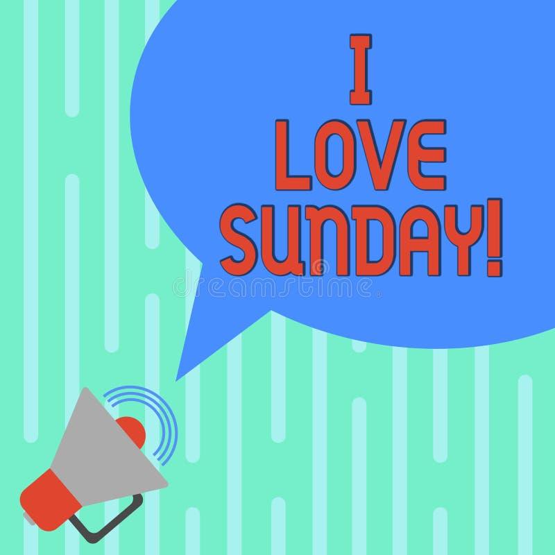 Testo di scrittura di parola amo domenica E royalty illustrazione gratis