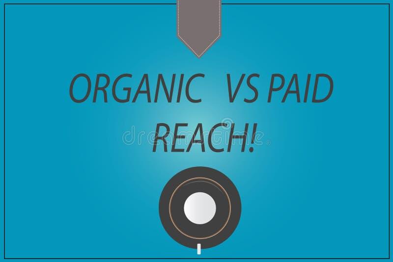 Testo di scrittura di parola organico contro la portata pagata Concetto di affari per i seguaci aumentanti naturalmente o pagando illustrazione vettoriale