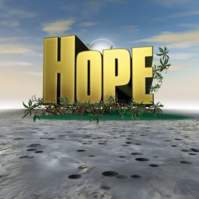 Testo di speranza con le radici royalty illustrazione gratis