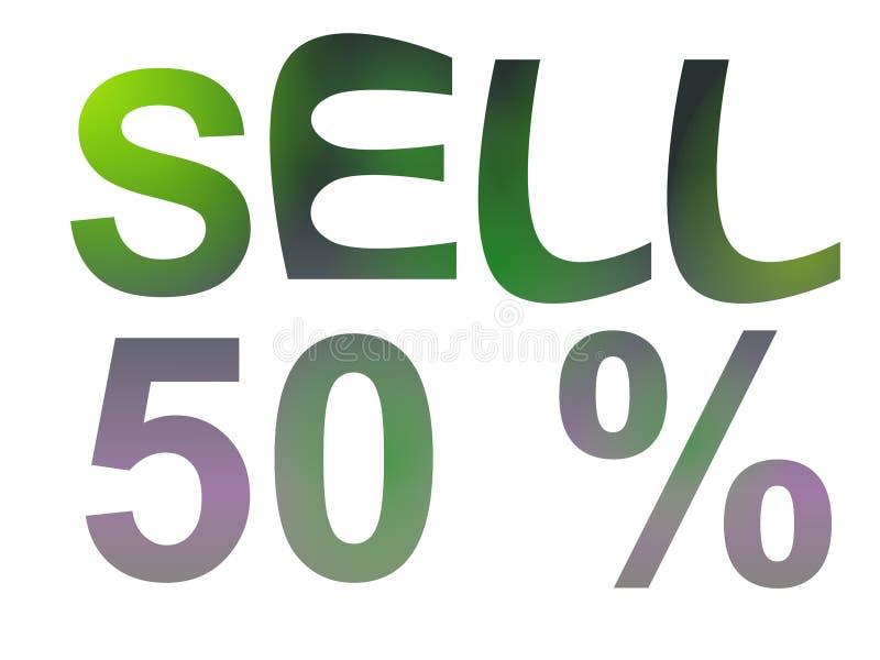 Testo di vendita illustrazione di stock