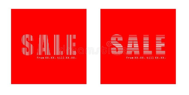 Testo di vendita nei quadrati fotografie stock libere da diritti