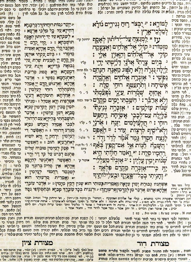 Testo ebraico antico fotografie stock libere da diritti