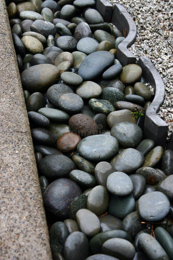 Testo fisso del giardino di roccia fotografia stock libera da diritti