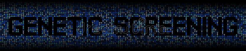 Testo genetico della selezione sull'illustrazione del fondo di codice genetico del DNA royalty illustrazione gratis