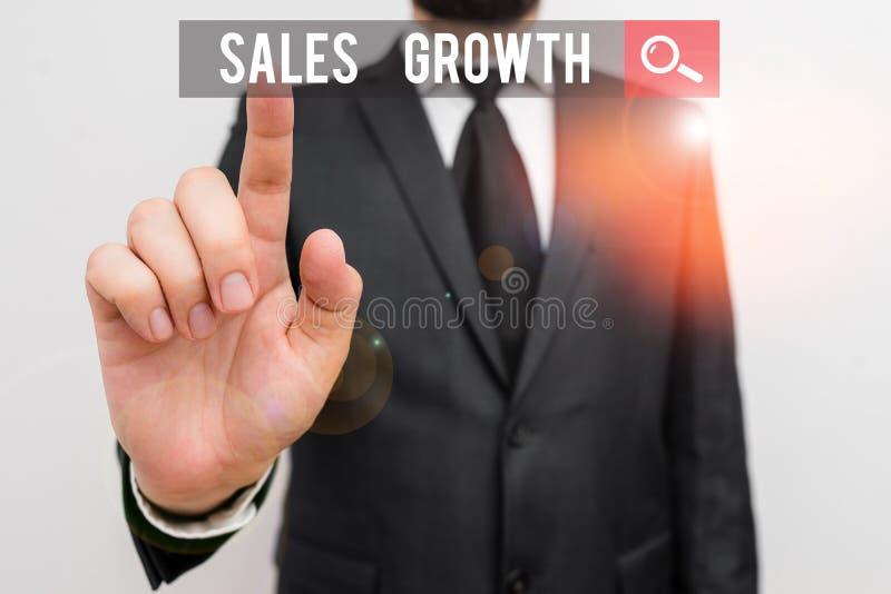 Testo grafia Crescita vendite Concetto: capacità di aumentare le entrate per un periodo di tempo determinato fotografia stock libera da diritti