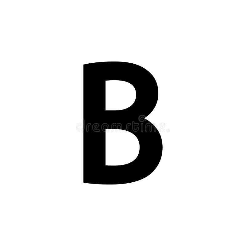 Testo in grassetto, icona di B Può essere usato per il web, il logo, il app mobile, UI, UX royalty illustrazione gratis