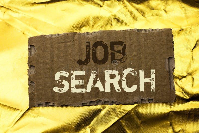 Testo Job Search di scrittura di parola Concetto di affari per la recluta di assunzione di occupazione di opportunità di offerta  immagine stock libera da diritti
