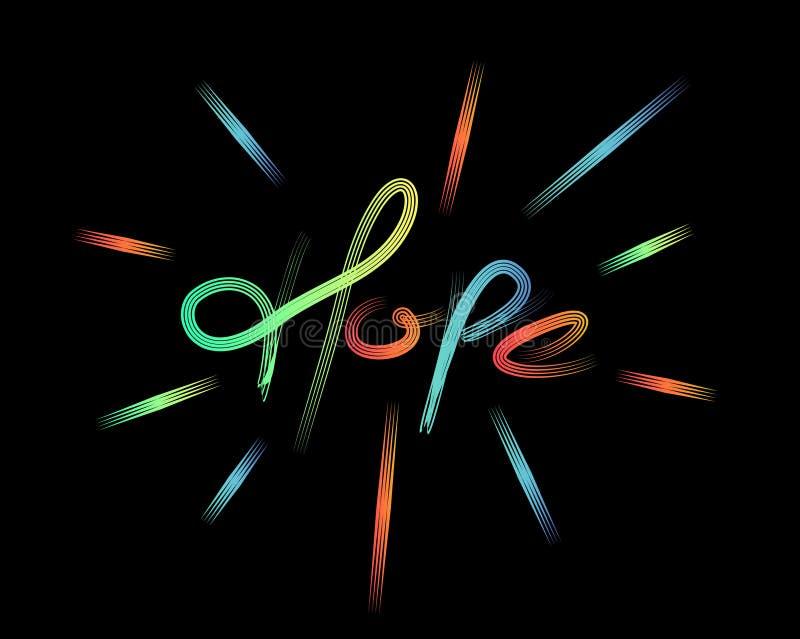 Testo moderno calligrafico di stile di speranza royalty illustrazione gratis