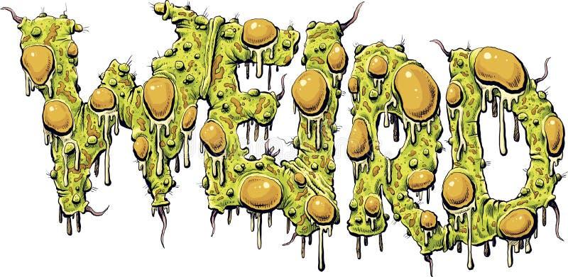 Testo mutante strano illustrazione di stock
