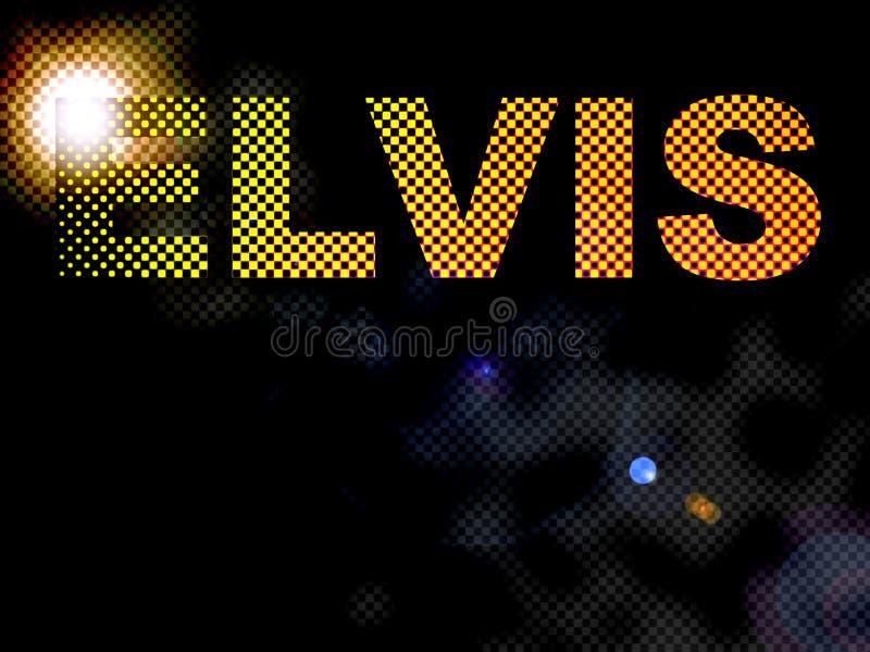 Testo punteggiato del segno di Elvis degli indicatori luminosi illustrazione di stock