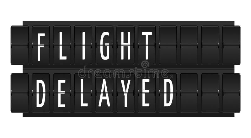 Testo in ritardo volo illustrazione di stock