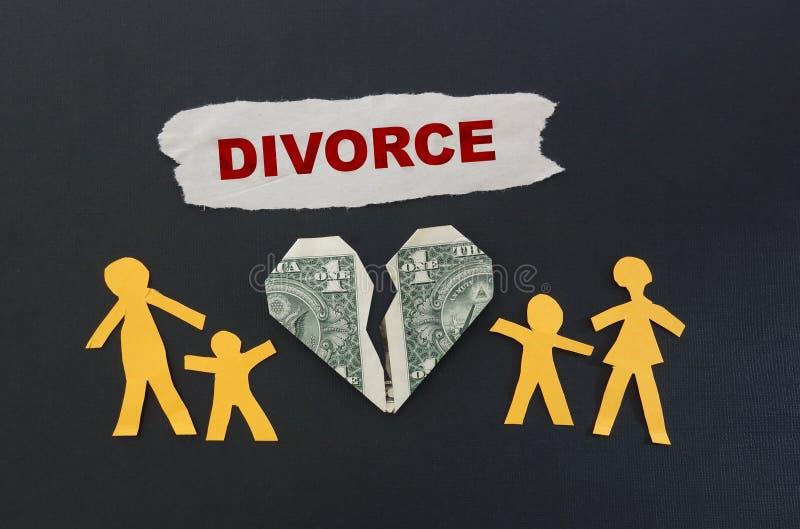 Testo rosso di divorzio fotografia stock