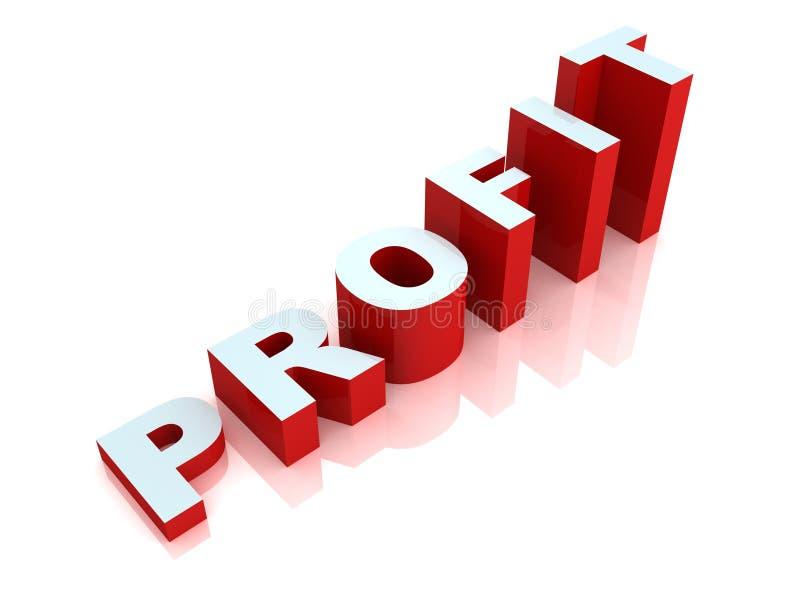 Testo rosso e blu della scaletta di affari di profitto di successo royalty illustrazione gratis
