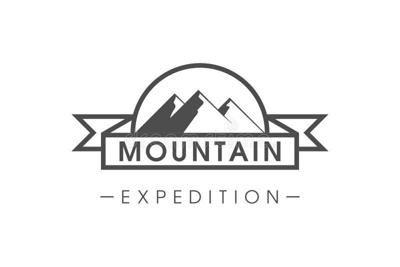 Testo semplice di logo di spedizione della montagna fotografia stock libera da diritti