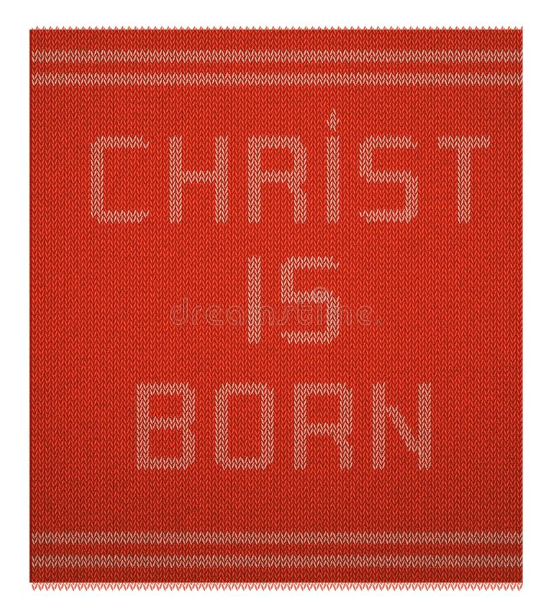 Testo tricottato Natale fotografie stock