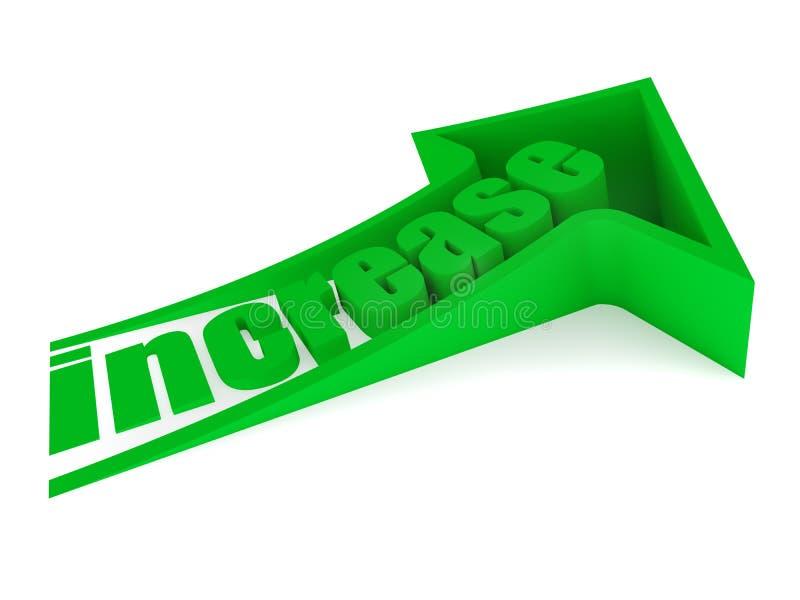 Testo verde di aumento 3D illustrazione di stock