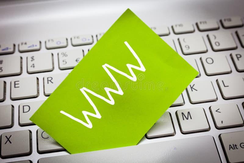 Testo WWW della scrittura La rete di significato di concetto del contenuto online ha formattato in HTML ed ha acceduto a via il H immagine stock