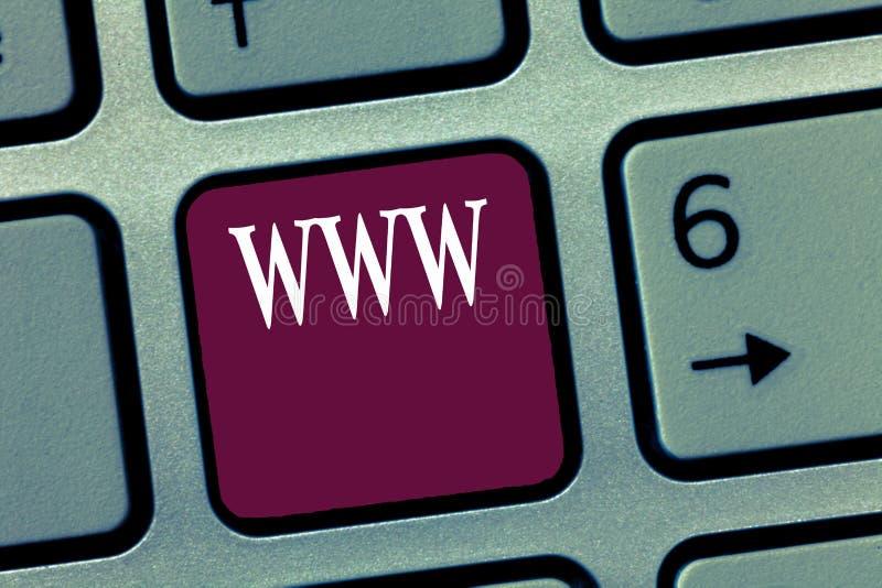 Testo WWW di scrittura di parola Il concetto di affari per la rete del contenuto online ha formattato in HTML ed ha acceduto a vi fotografia stock