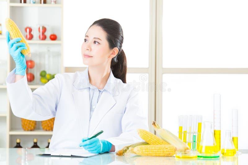 Testresultaat van de opname van het genetische modificatievoedsel royalty-vrije stock foto's