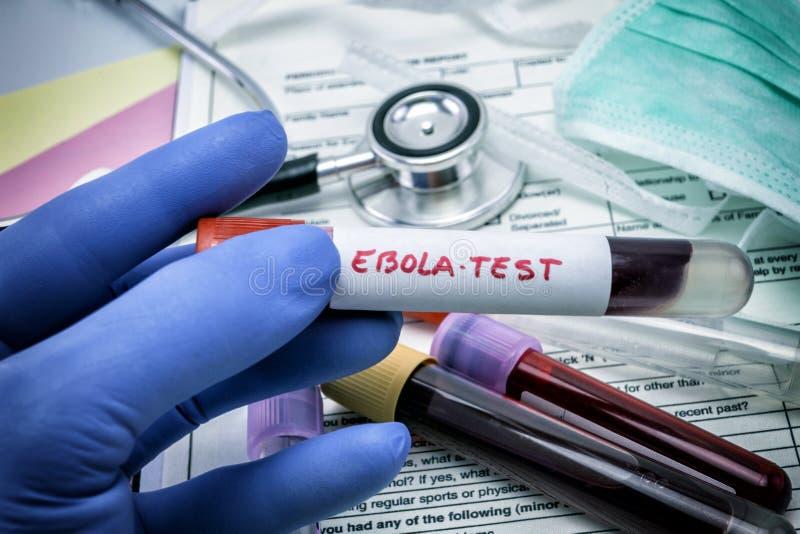 Tests voor Onderzoek van Ebola-virus stock afbeelding