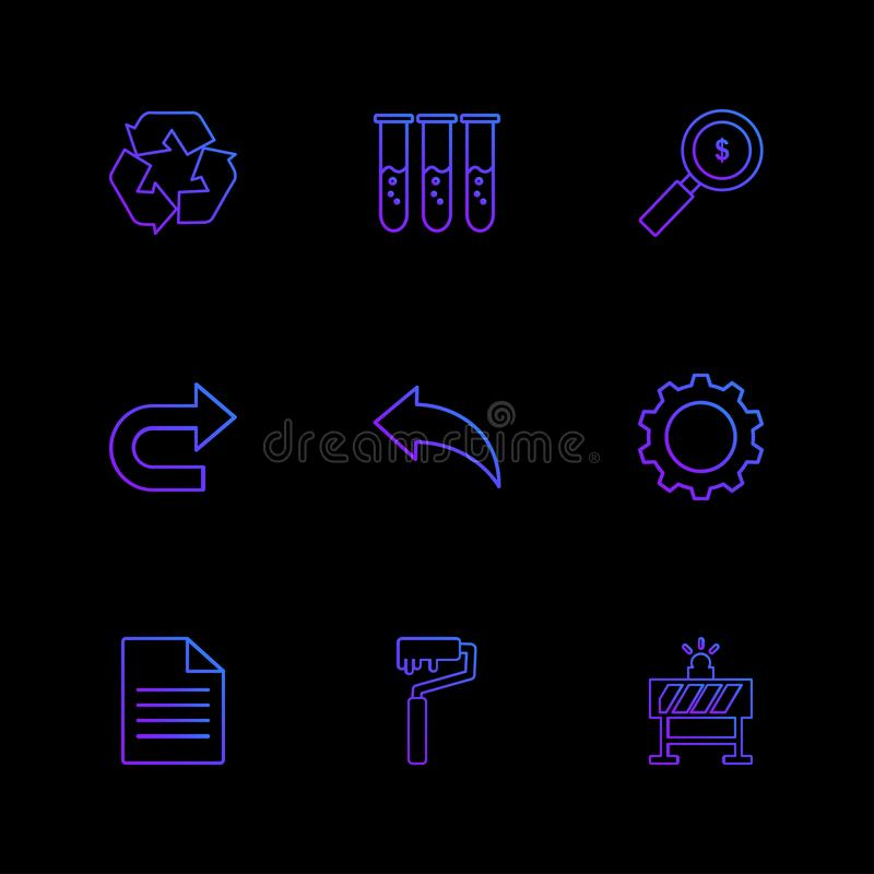 testtube, dollar, onderzoek, forword, daarna, terug, het plaatsen, g vector illustratie