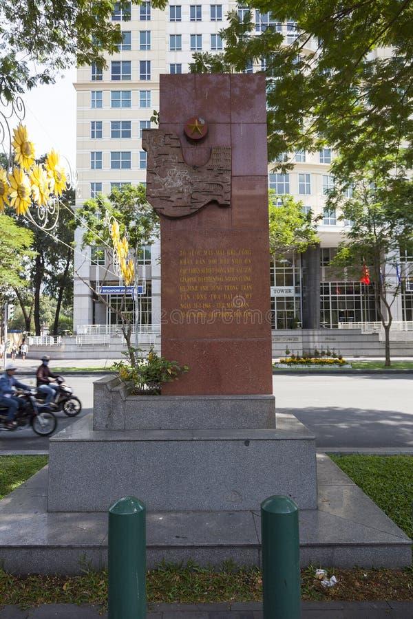 Tet进攻纪念碑在胡志明 免版税库存图片
