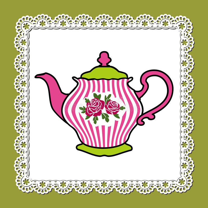 Tetera rosada ilustración del vector