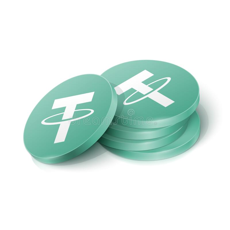 Free Tether Cryptocurrency Tokens Royalty Free Stock Photography - 165626407