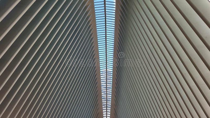 Teto arcado em Oculus, New York City foto de stock royalty free