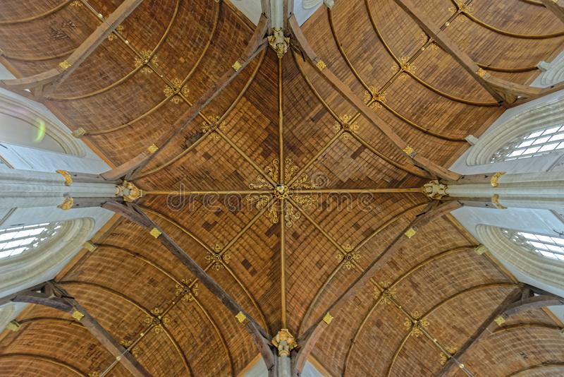 Teto arcado na igreja fotos de stock royalty free