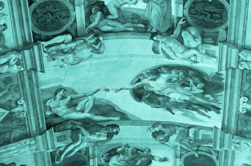 Teto da capela de Sistine imagem de stock royalty free
