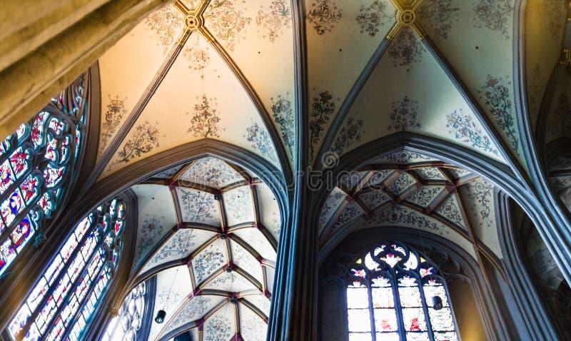 Teto da catedral de Aix-la-Chapelle fotografia de stock