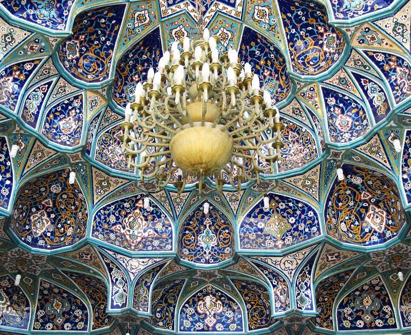 Teto da entrada da mesquita foto de stock