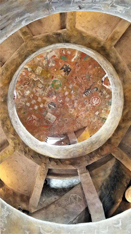 Teto da torre de vigia da opinião do deserto de Grand Canyon fotografia de stock