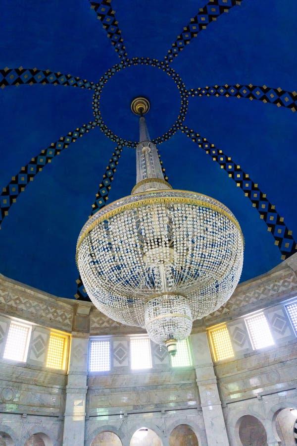 Teto de Habib Bourguiba Mausoleum em Monastir, Tunísia imagens de stock royalty free