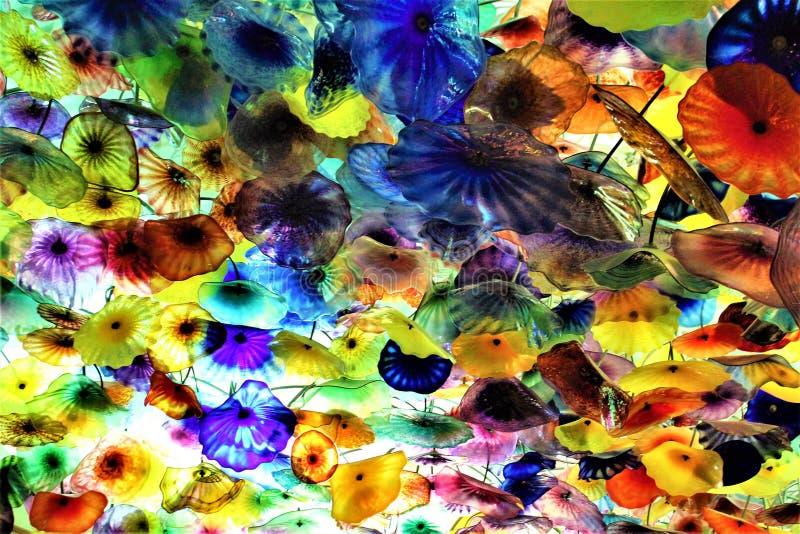 Teto de vidro da flor de Bellagio, Las Vegas fotos de stock