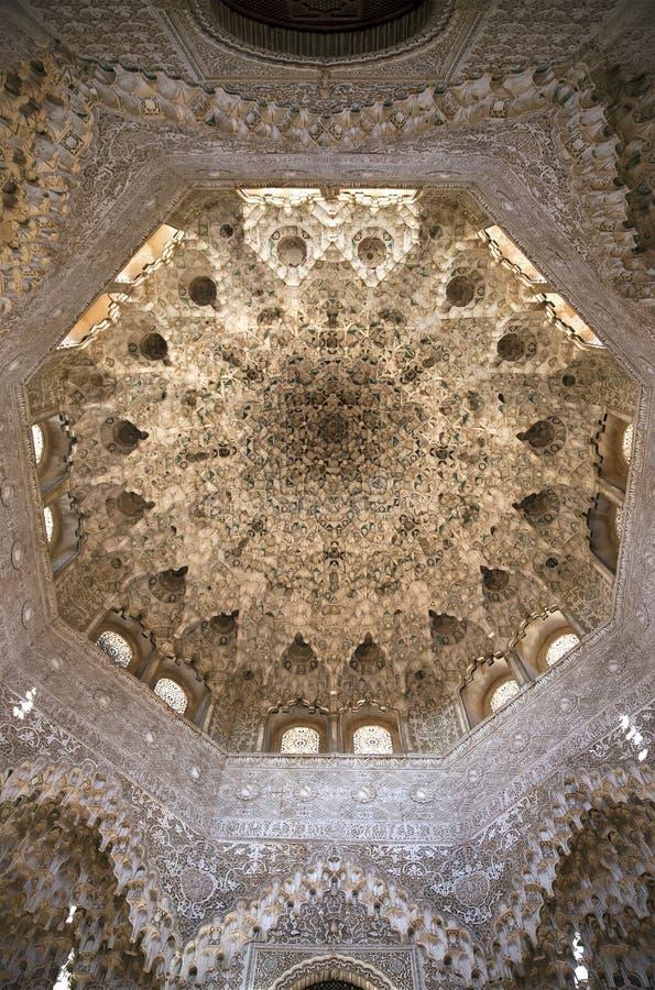 Teto do palácio de Nasrid imagens de stock royalty free