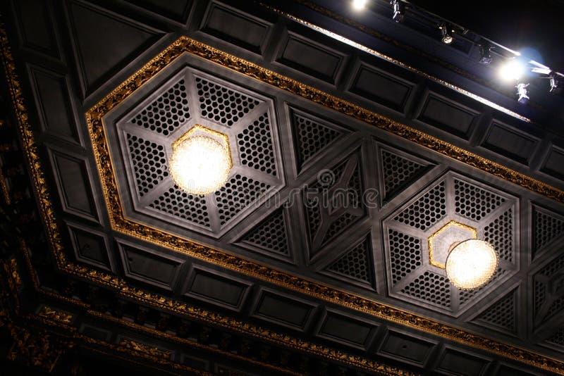 Teto do teatro de Huntington imagens de stock royalty free