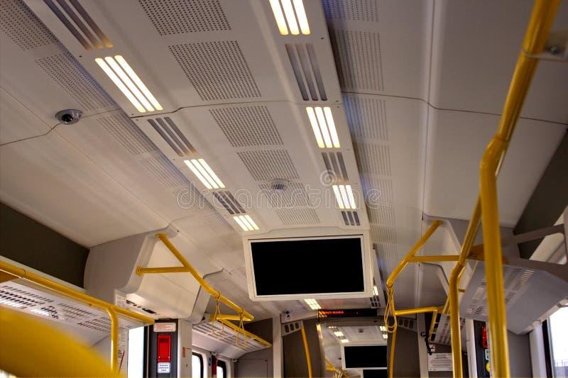 Teto do trem fotografia de stock