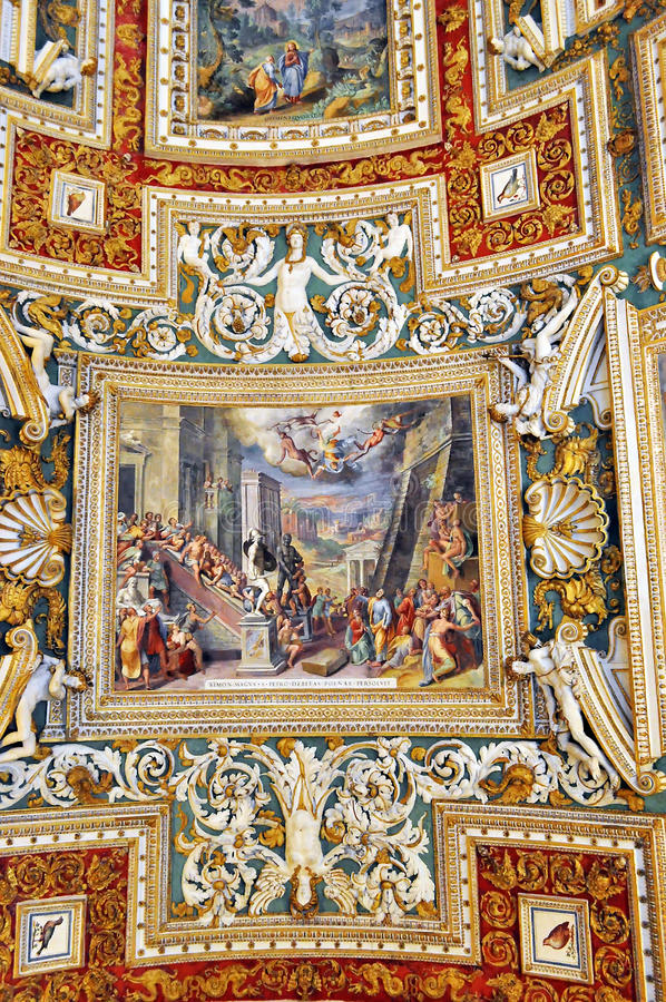 Teto do Vaticano, Itália fotografia de stock royalty free