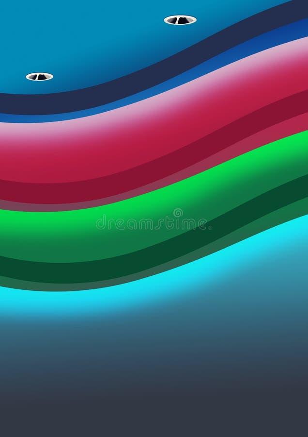 Teto original usando a cor que muda a iluminação do diodo emissor de luz ilustração royalty free