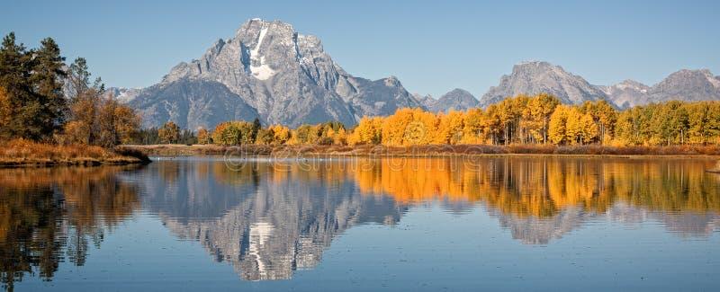 Teton Autumn Reflection royalty free stock images