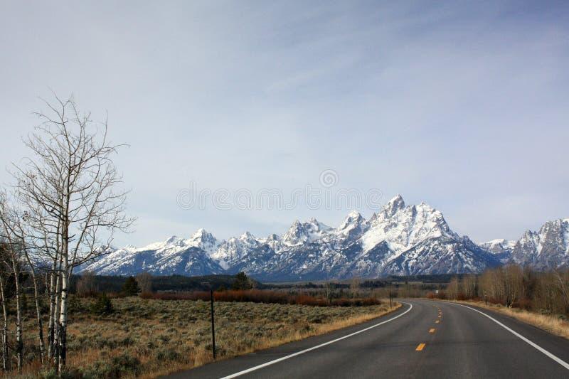 Teton-Gebirgszug in Jackson Wyoming lizenzfreies stockfoto