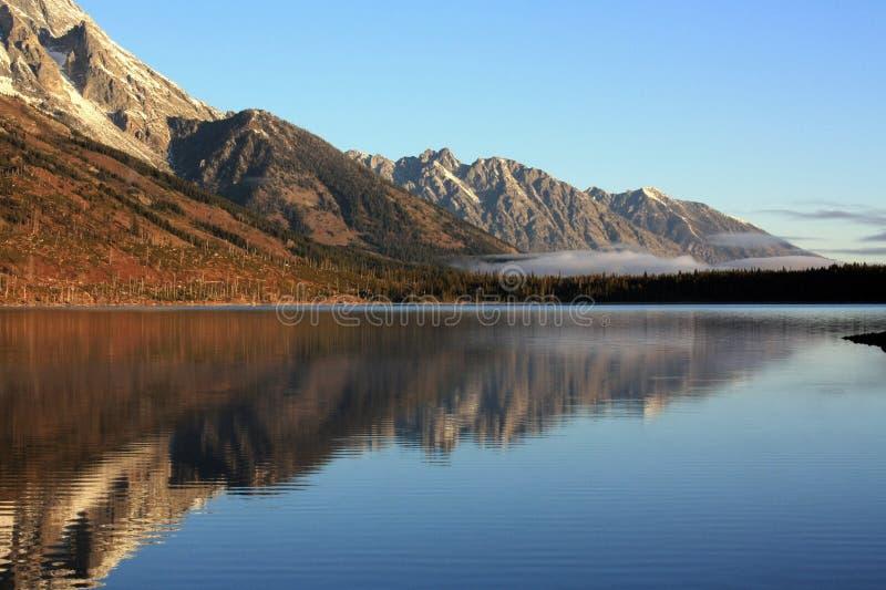 Teton-Gebirgszug in Jackson Wyoming stockfotos