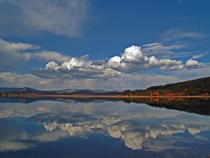 Download Teton Lake Reflection stock image. Image of still, forest - 29266219