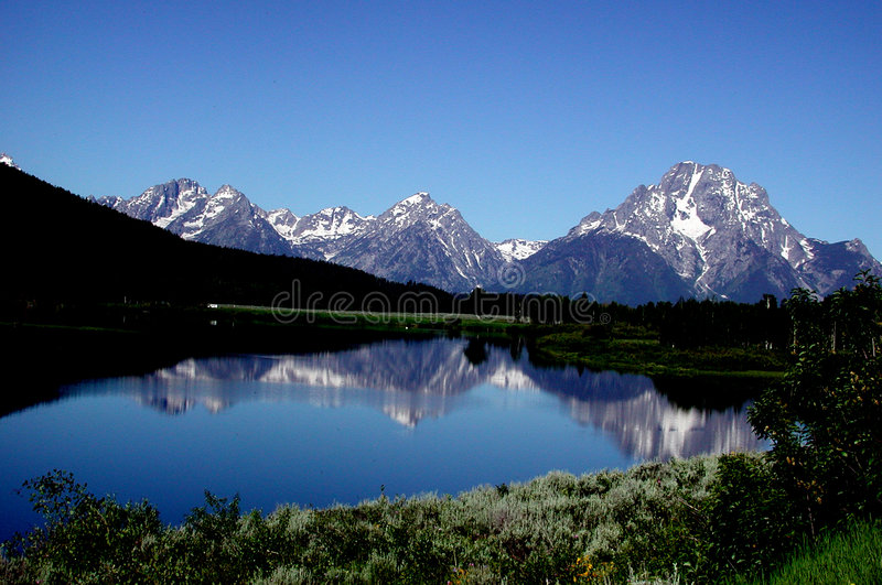 Download Teton Mountains stock photo. Image of reflection, lakes - 25326